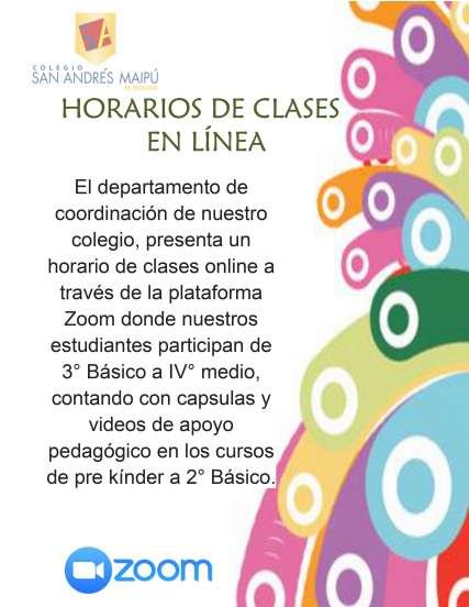 Horario clases en linea junio 20